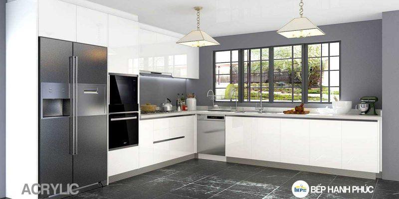 Top 5 mẫu kệ tủ bếp bóng gương đẹp tốt