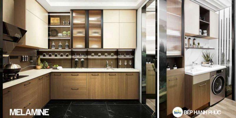 Top 5 mẫu Kệ tủ bếp gỗ công nghiệp bền đẹp