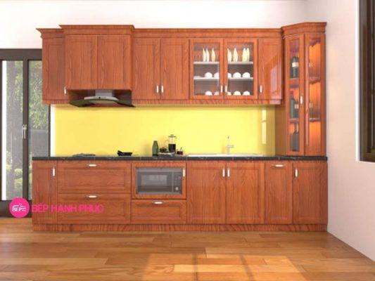 Top 5 mẫu kệ tủ bếp gỗ tự nhiên đẹp tốt