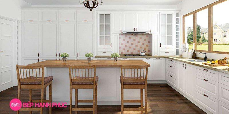 Top 5 Mẫu Kệ tủ bếp tân cổ điển đẹp tốt