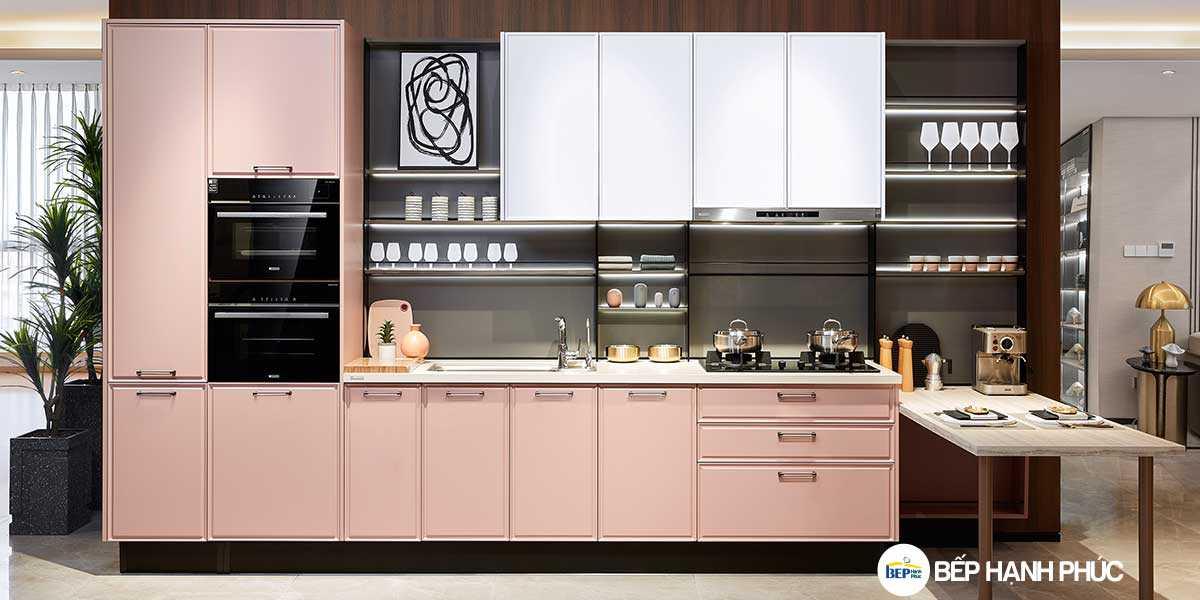 Top 5 mẫu kệ tủ bếp căn hộ chung cư đẹp tốt