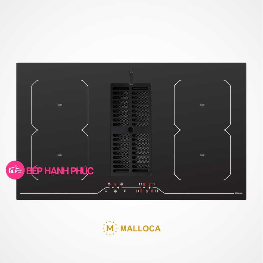 Bếp từ Malloca HIH-864 LI kết hợp máy hút mùi âm 6 tốc độ