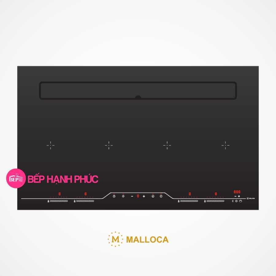 Bếp từ Malloca HIH-904 SLIM kết hợp máy hút mùi âm 87cm