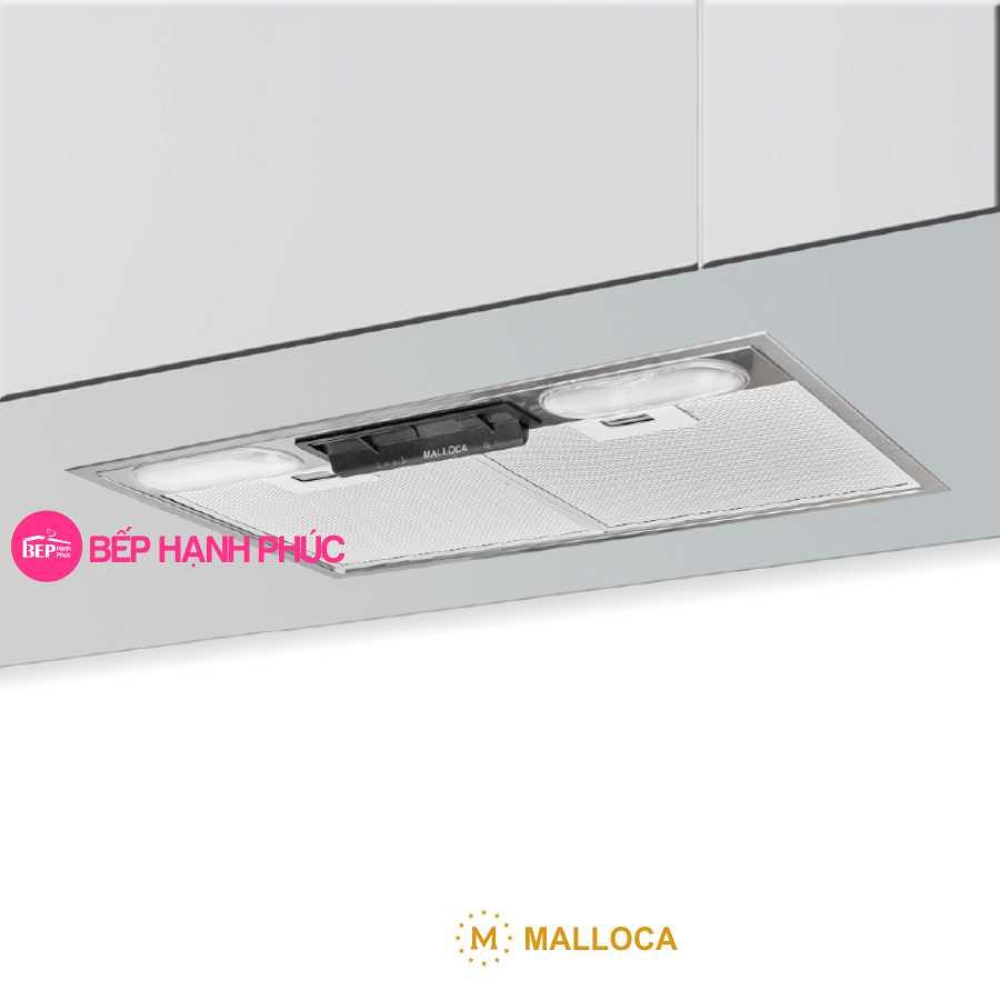 Máy hút mùi Malloca K1153 - Âm tủ 53cm inox nút gạt