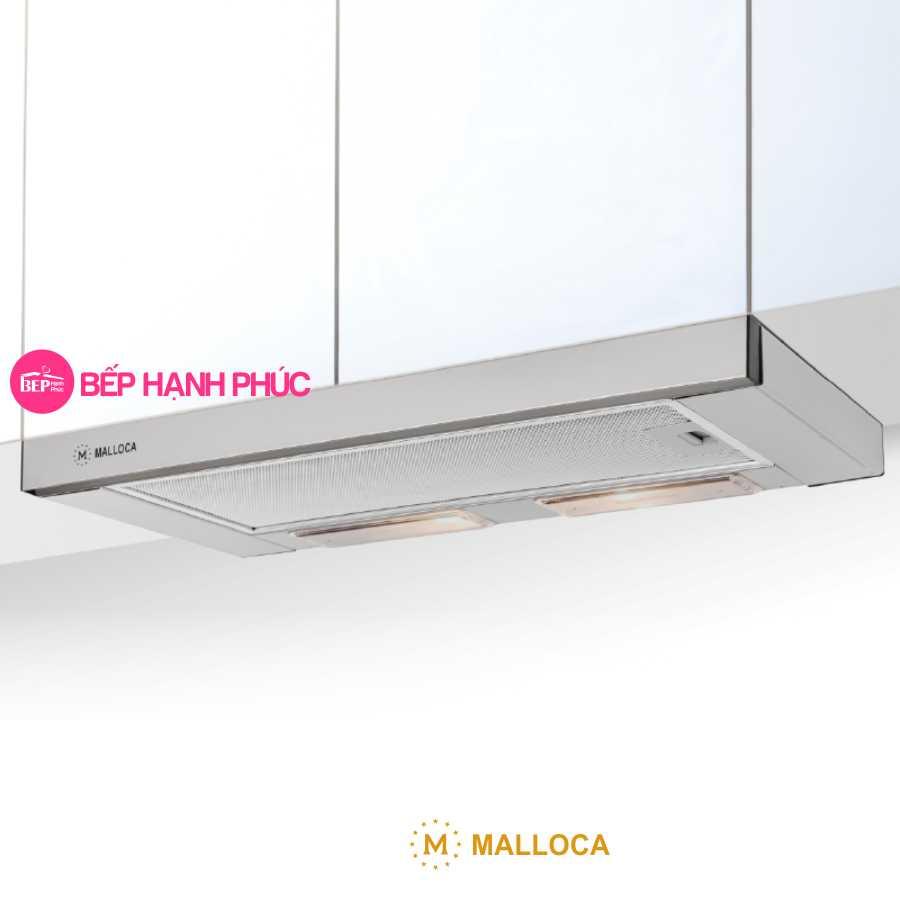 Máy hút mùi Malloca K1507 - Âm tủ kéo 70cm inox nút cơ học