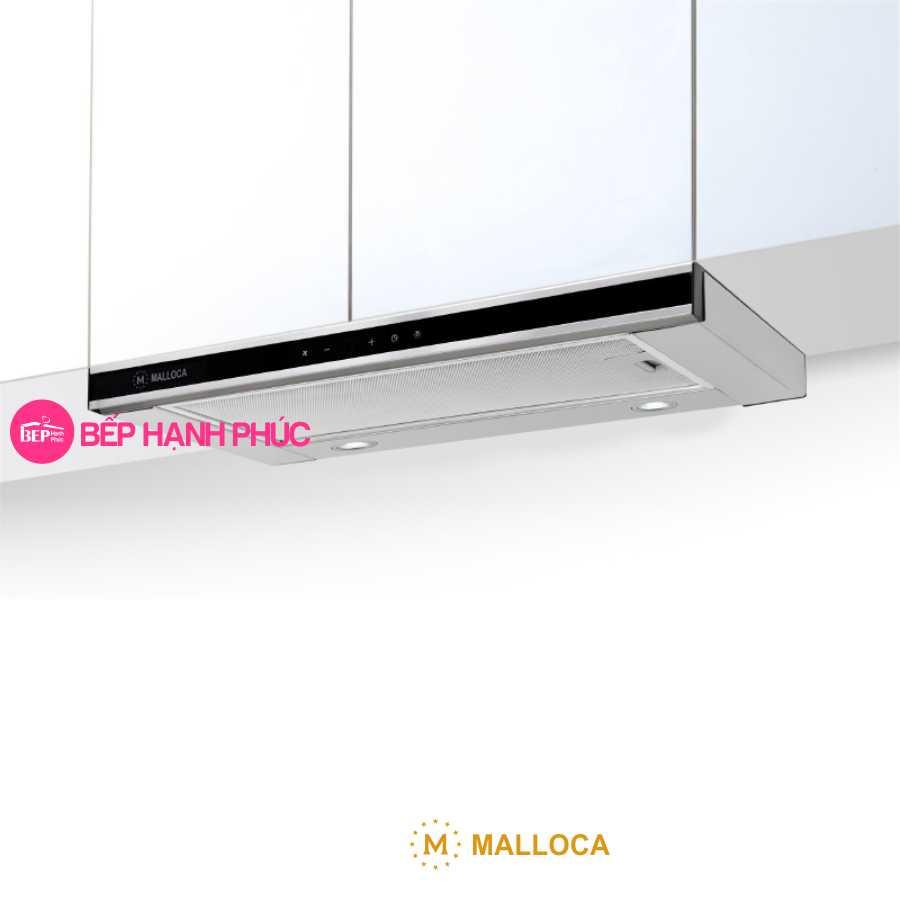 Máy hút mùi Malloca K1509 TC - Âm tủ kéo 90cm mặt kính cảm ứng