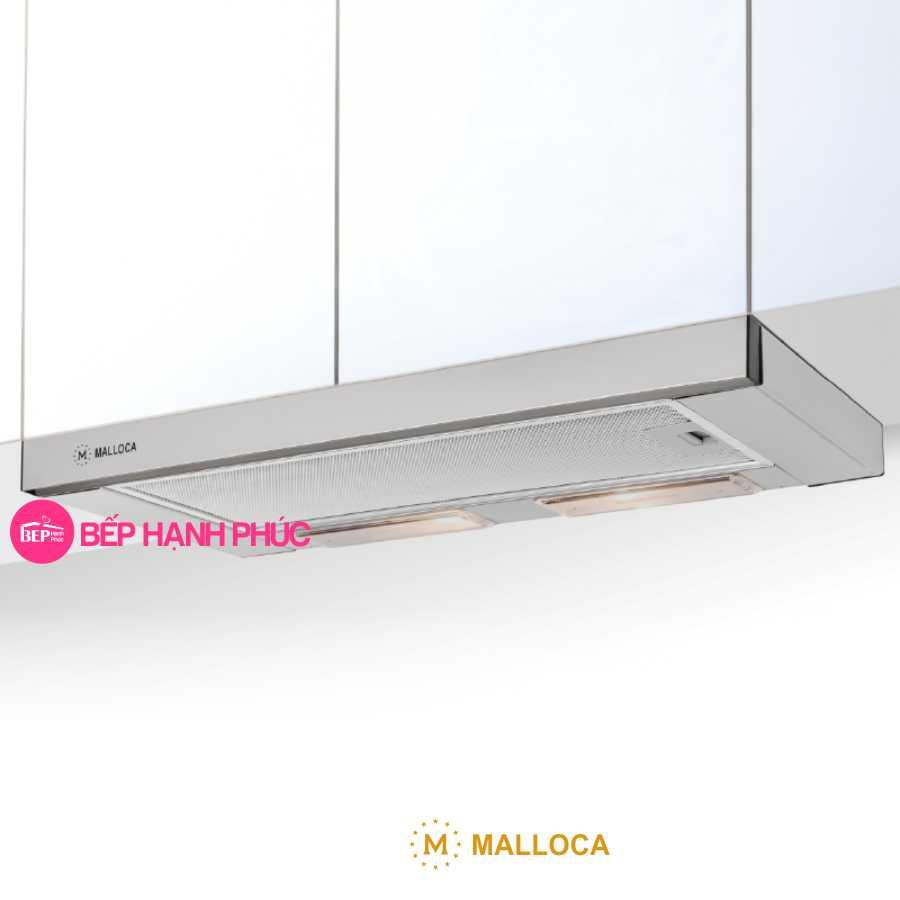 Máy hút mùi Malloca K1509 - Âm tủ kéo 90cm inox nút cơ học