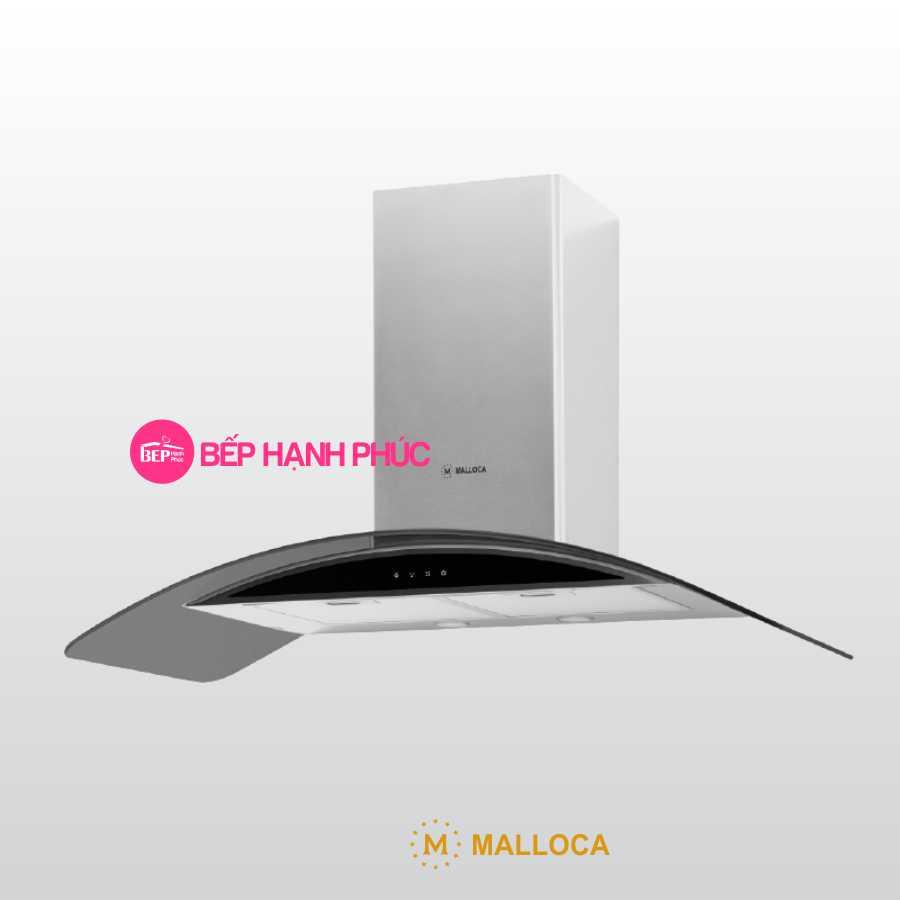 Máy hút mùi Malloca Gama K3155.9 - Áp tường 90cm inox kính cong cảm ứng