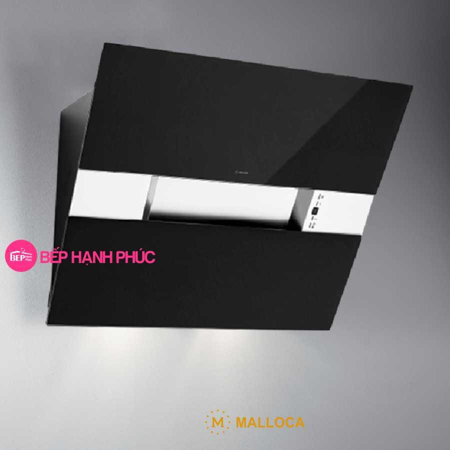 Máy hút mùi Malloca HORIZON K1574 - Áp tường 90cm mặt vát inox kính đen
