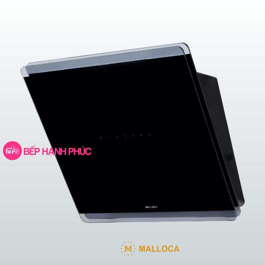 Máy hút mùi Malloca MC 60GT-B - Áp tường 60cm mặt vát kính đen