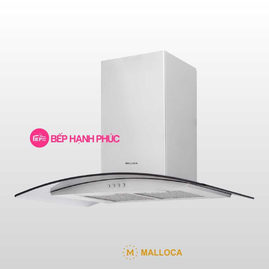 Máy hút mùi Malloca MC 750E - Áp tường 75cm inox kính cong