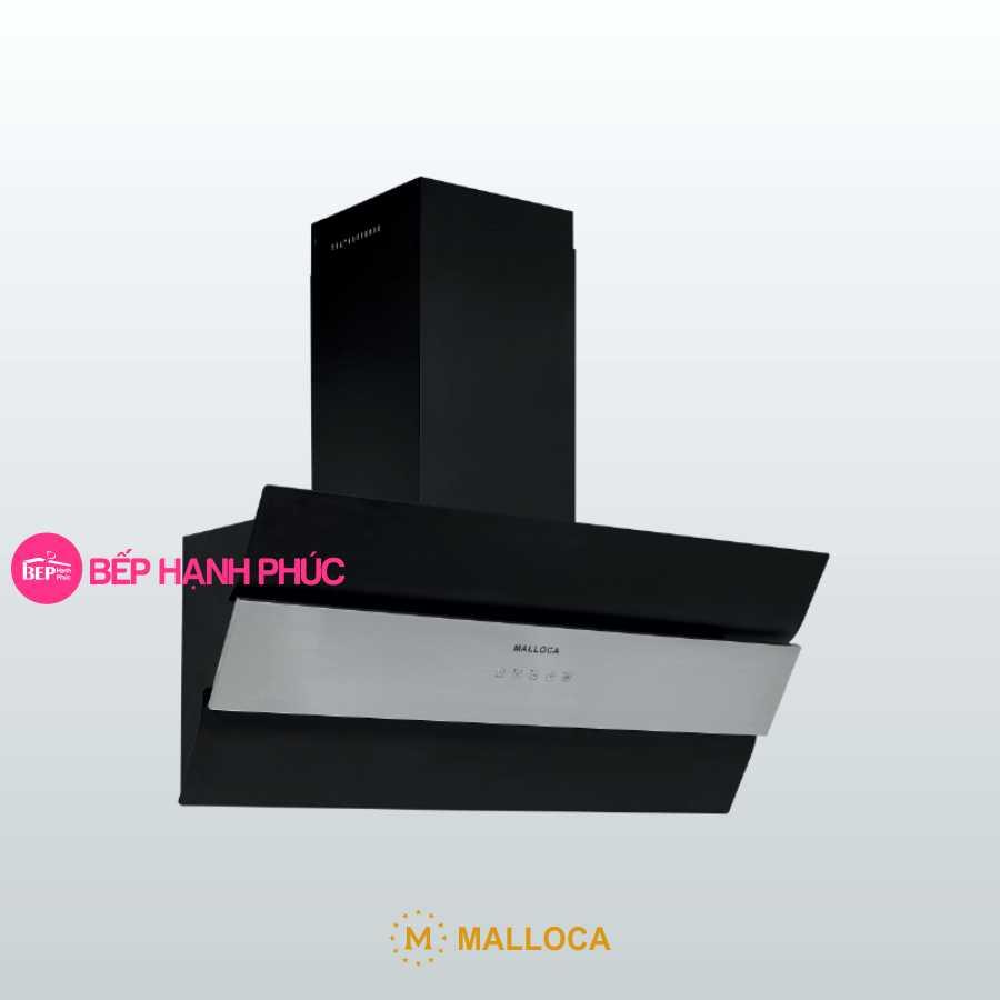 Máy hút mùi Malloca MC-9003 - Áp tường 90cm mặt vát inox sơn đen
