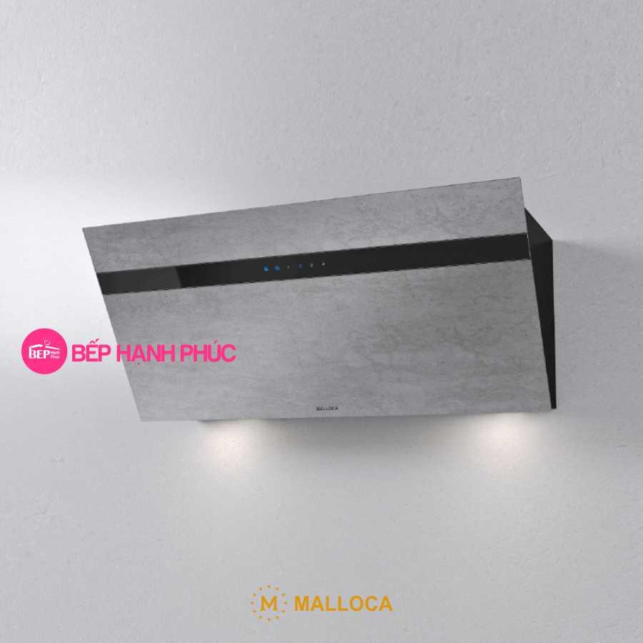 Máy hút mùi Malloca VITA V-13 GRES - Áp tường 90cm mặt vát Ceramic màu xi măng