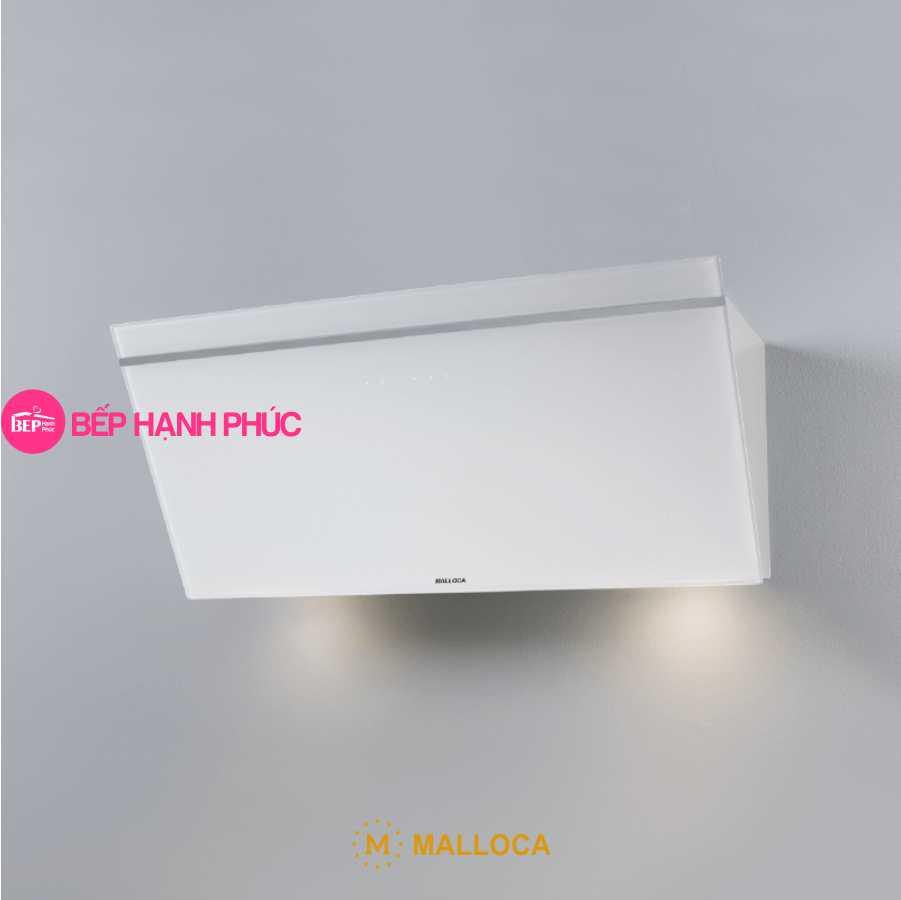 Máy hút mùi Malloca VITA V-3 - Áp tường 90cm mặt vát Ceramic kính trắng