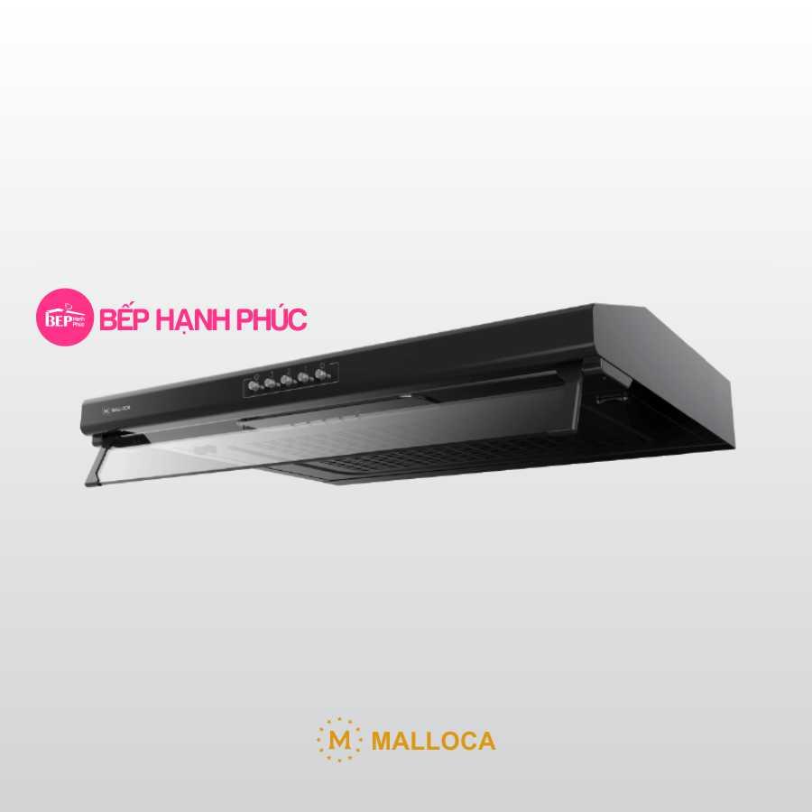 Máy hút mùi Malloca H107B - Classic 70cm thép sơn đen nút nhấn cơ