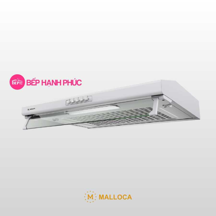 Máy hút mùi Malloca H107W - Classic 70cm thép sơn trắng nút nhấn cơ