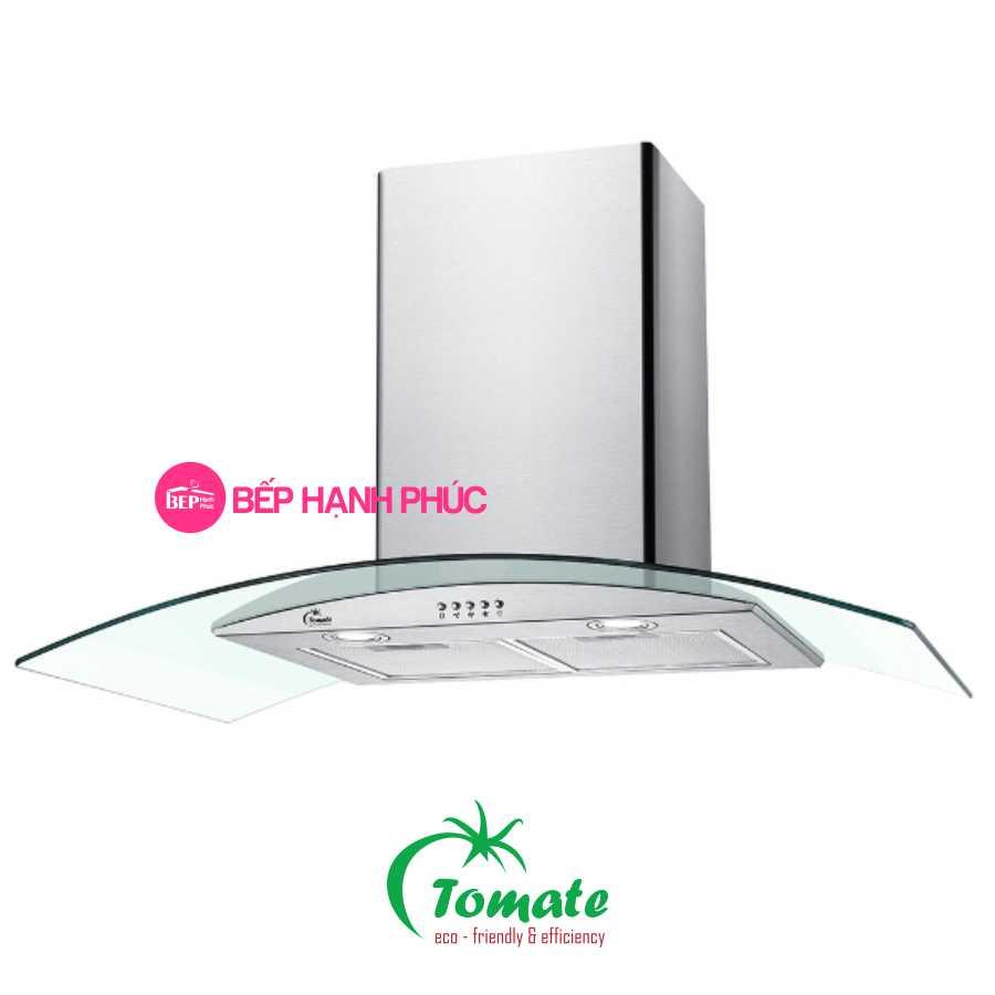 Máy hút mùi Tomate TOM 3159 - 90cm vòng kính cong nút bấm cơ