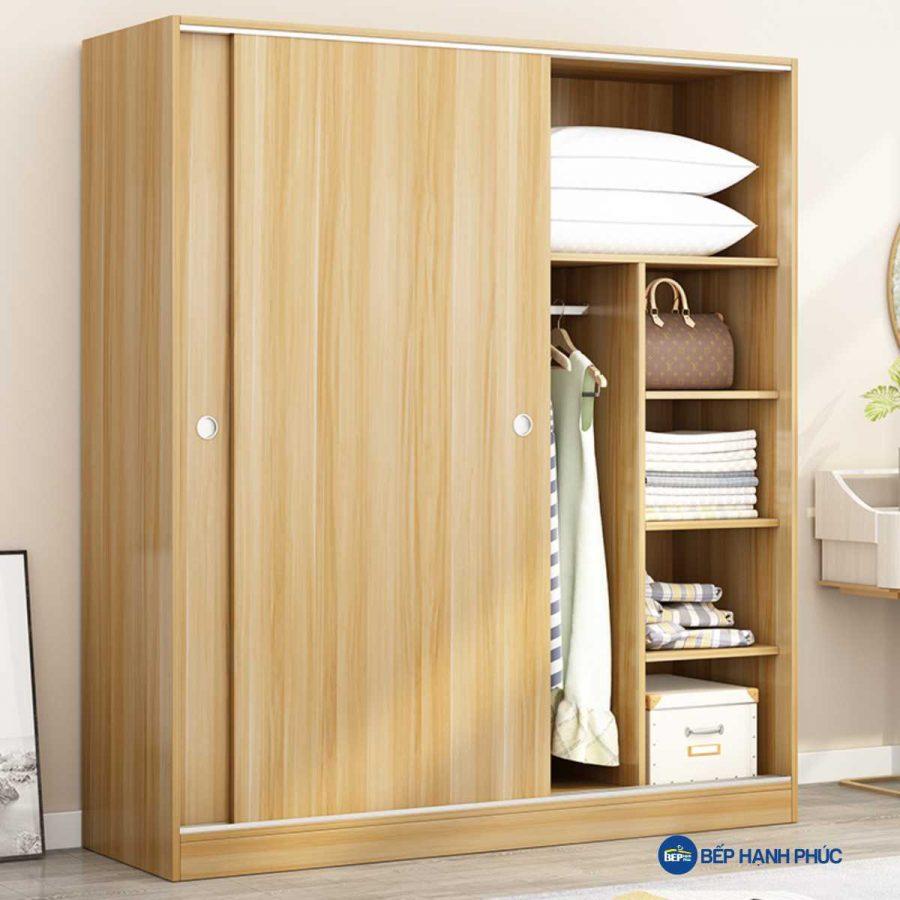Tủ quần áo cửa kéo Melamine vân gỗ TQA-KD-22